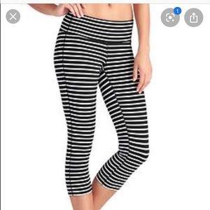 Athleta striped crop pants